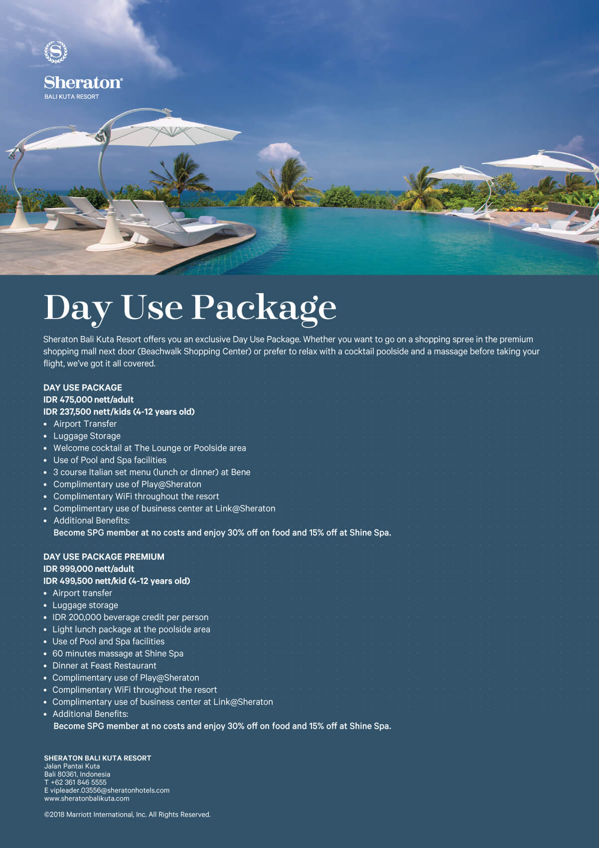 Sheraton Kuta Day Pass