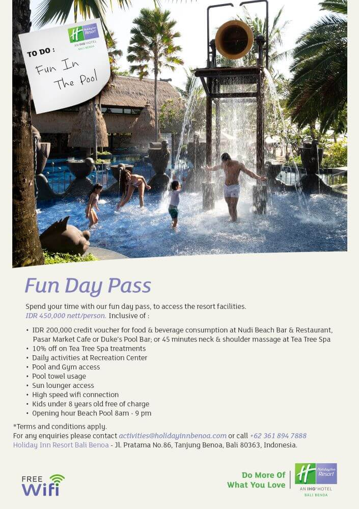 Holiday Inn Benoa Day Pass
