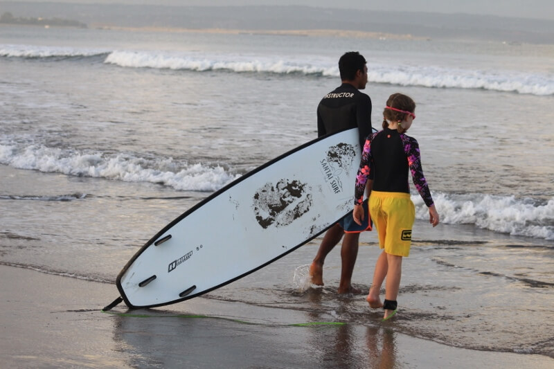 Surfing lessons Bali